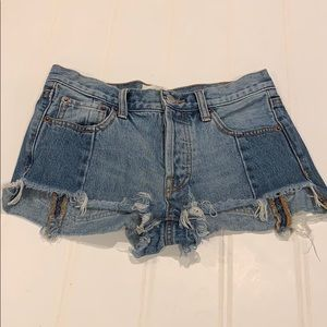 We The Free frayed VINTAGE denim shorts